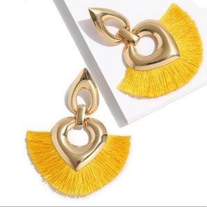 NWT Gold & Yellow Tassel Earrings